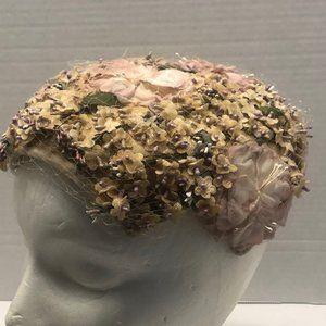 Vintage Floral Button Style Hat